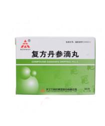"""Pills for the heart """"Fufaev Danshen"""" (Fufang Danshen Diwan) with dispenser"""