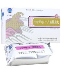 """Pills """"Shibavey Outsyuy Wan"""" (Shibawei Ouqu Wan) for the treatment of gout"""
