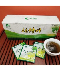 Chinese green therapeutic tea Du Jun from the leaves eucommia vesolistnoy from the pressure